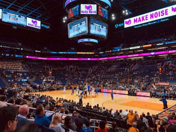 Talking Stick Resort Arena, sección: 111, fila: 10, asiento: 14