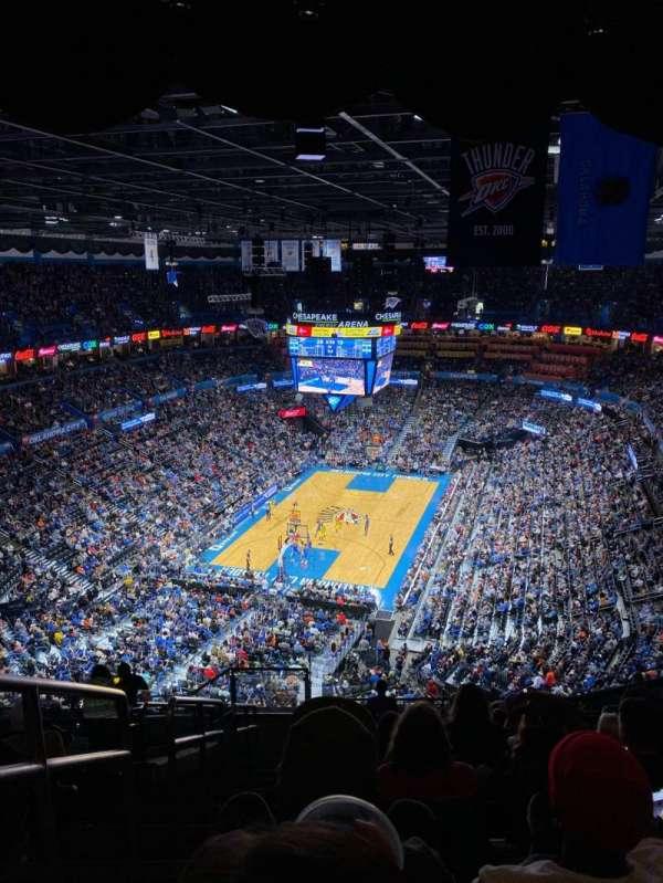 Chesapeake Energy Arena, sección: 314, fila: P, asiento: 25