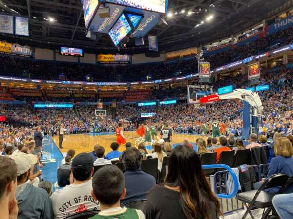 Chesapeake Energy Arena, sección: 112, fila: DD, asiento: 4