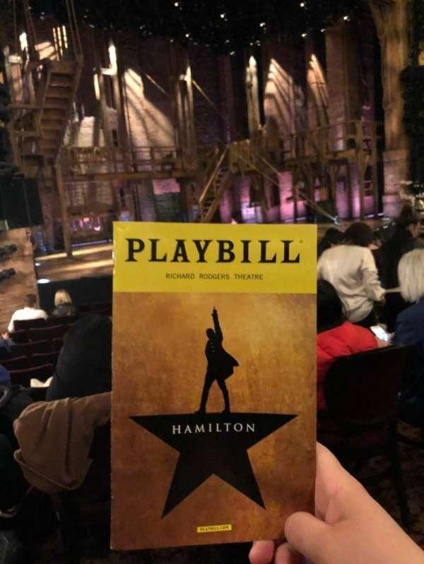 Richard Rodgers Theatre, sección: Orchestra L, fila: L, asiento: 21