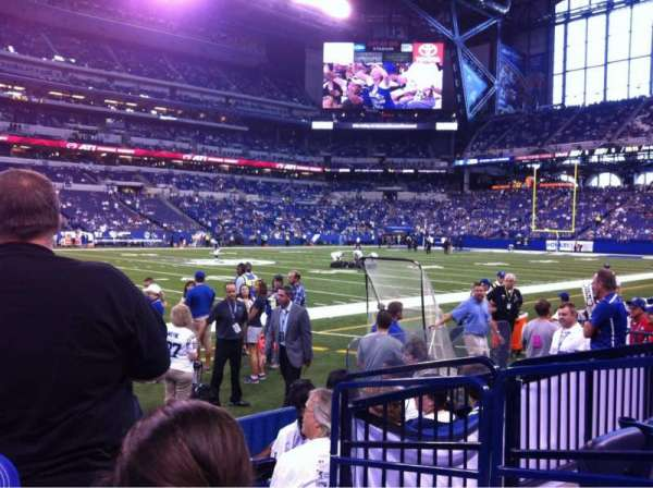 Lucas Oil Stadium, sección: 116, fila: 3, asiento: 2