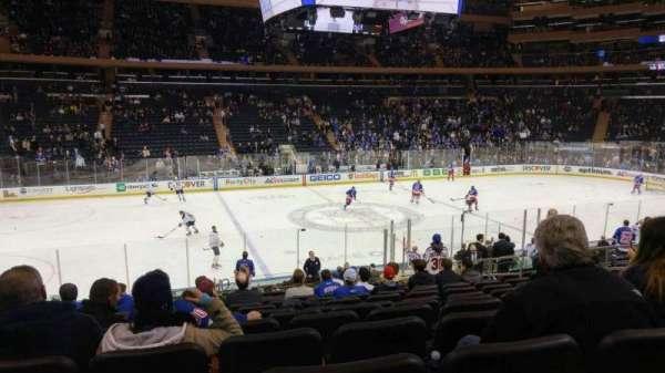 Madison Square Garden, sección: 116, fila: 17, asiento: 10