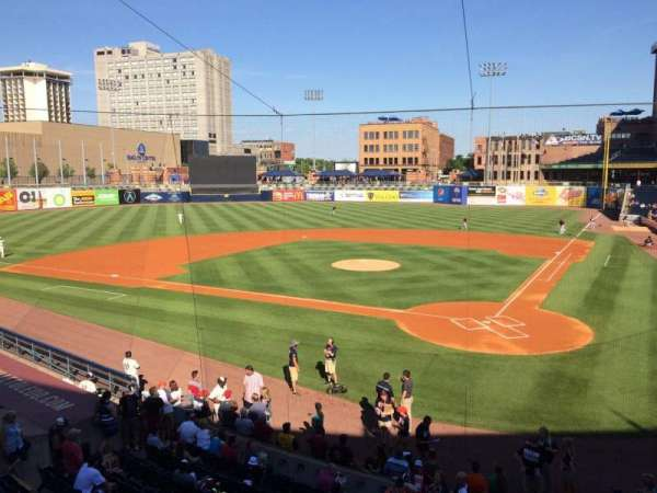 Fifth Third Field, sección: 207, fila: 1, asiento: 4