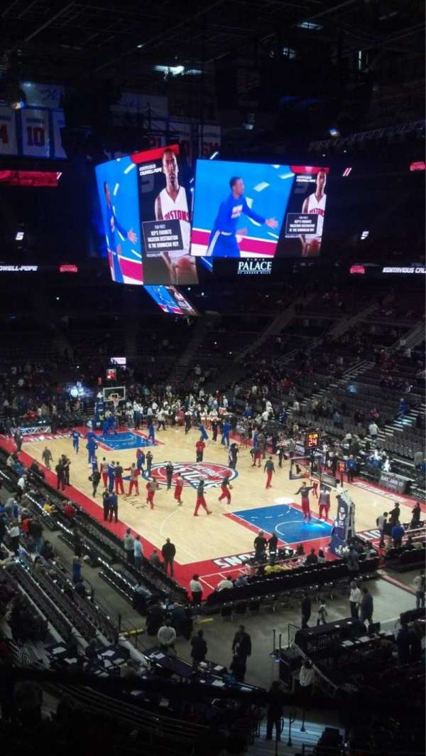 The Palace of Auburn Hills, sección: 225, fila: 10, asiento: 2