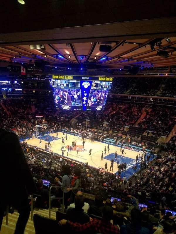 Madison Square Garden, sección: 214, fila: 10
