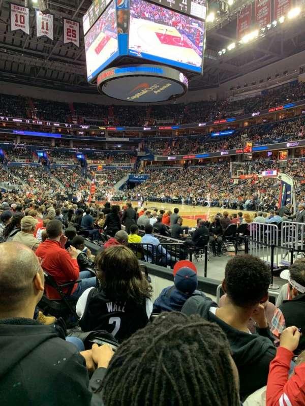 Capital One Arena, sección: 103, fila: E, asiento: 3