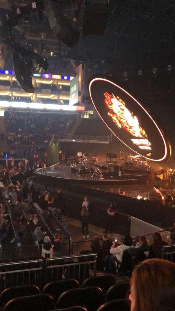 The O2 Arena, sección: 112, fila: N, asiento: 375