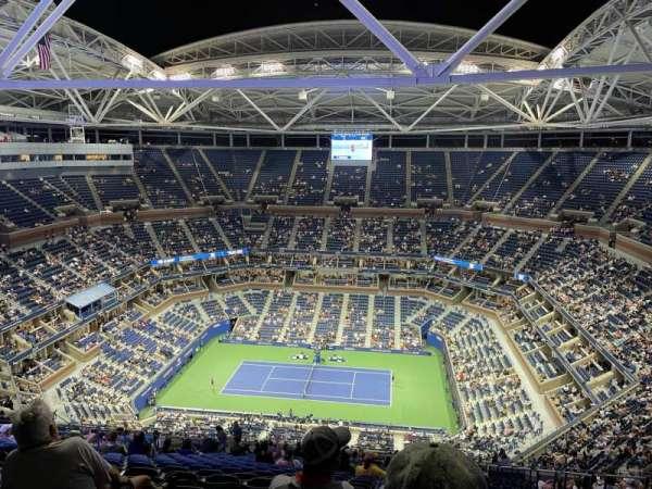 Arthur Ashe Stadium, sección: 312, fila: Z, asiento: 6