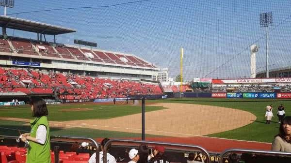 KT Wiz Park, sección: 108, fila: 3, asiento: 32