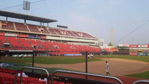 KT Wiz Park, sección: 108, fila: 2, asiento: 20