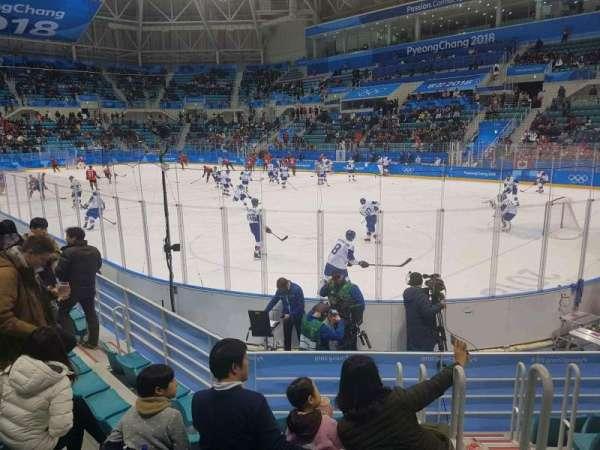 Gangneung Ice Hockey Centre, sección: 109, fila: D, asiento: 2