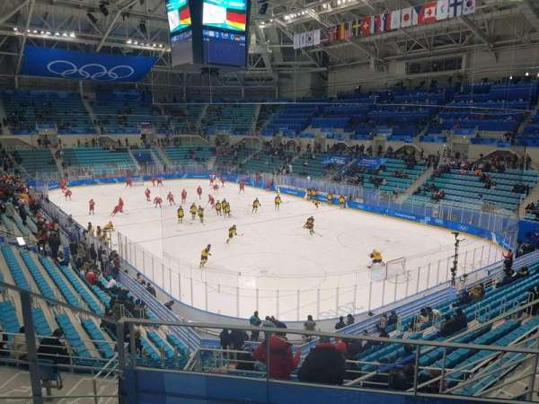 Gangneung Ice Hockey Centre, sección: 226, fila: D, asiento: 6