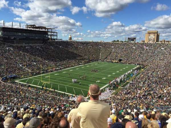 Notre Dame Stadium, sección: 116, fila: 25, asiento: 2