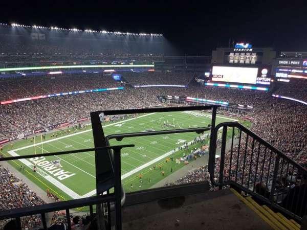 Gillette Stadium, sección: 339, fila: 9, asiento: 1