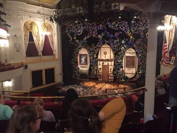 Ford's Theatre, sección: Balcony, fila: F, asiento: 10