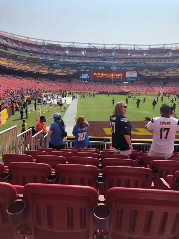 FedEx Field, sección: 113, fila: 11, asiento: 12