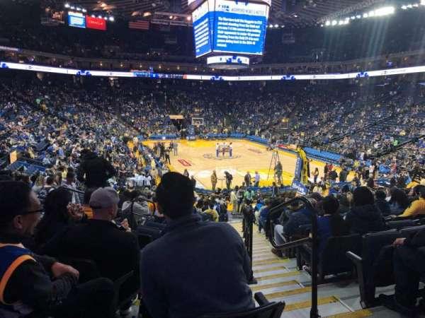 Oracle Arena, sección: 123, fila: 18, asiento: 2