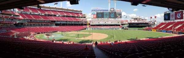 Great American Ball Park, sección: 131, fila: OO, asiento: 1
