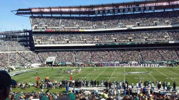 Lincoln Financial Field, sección: 101, fila: 31, asiento: 17