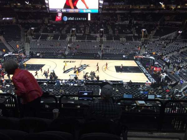 AT&T Center, sección: 107, fila: 32, asiento: 1and3