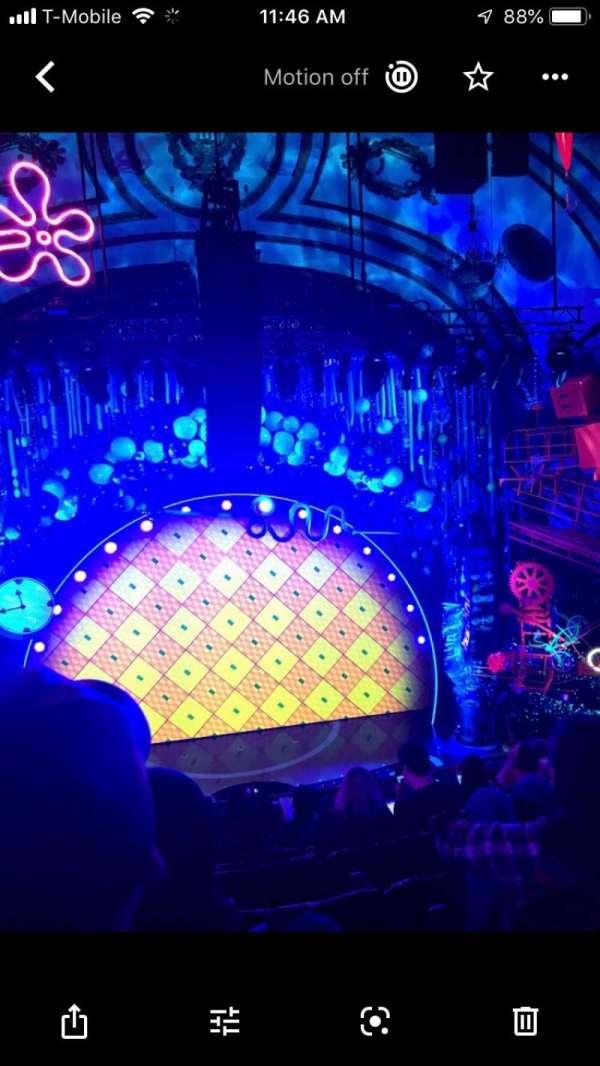 Palace Theatre (Broadway), sección: Mezz, fila: H, asiento: 101