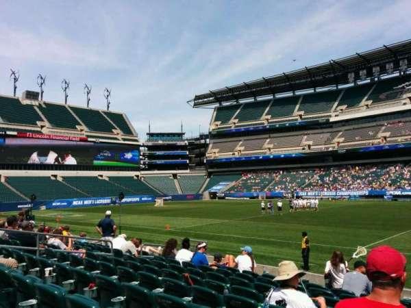 Lincoln Financial Field, sección: 103, fila: 9, asiento: 3