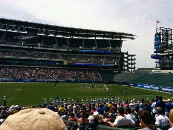 Lincoln Financial Field, sección: 120, fila: 26, asiento: 1