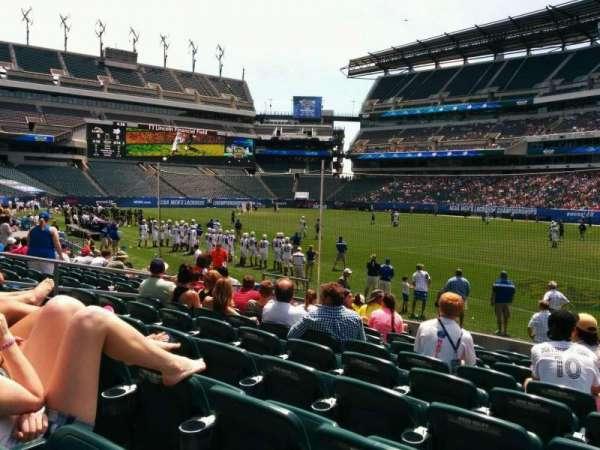 Lincoln Financial Field, sección: 124, fila: 9, asiento: 15