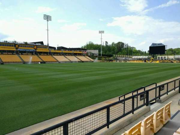 Fifth Third Bank Stadium, sección: 123, fila: c, asiento: 7