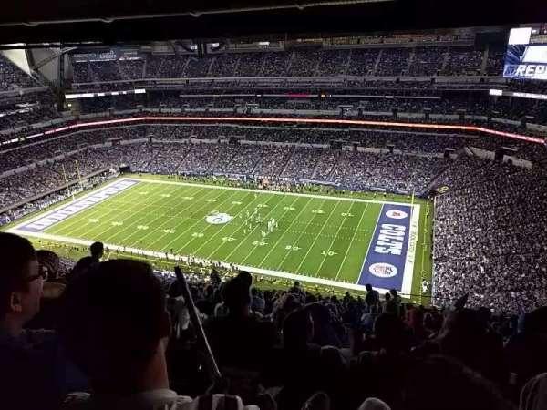 Lucas Oil Stadium, sección: 609, fila: 26, asiento: 10