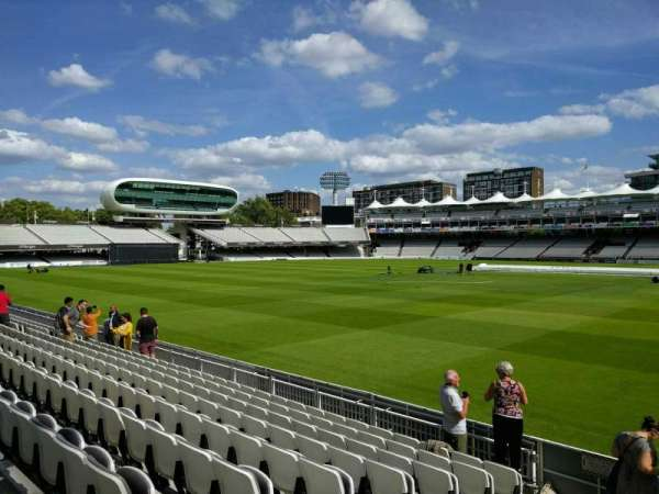 Lord's Cricket Ground, sección: grand stand a, fila: 9, asiento: 38