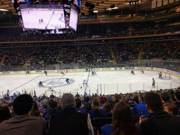Madison Square Garden, sección: 108, fila: 20, asiento: 7