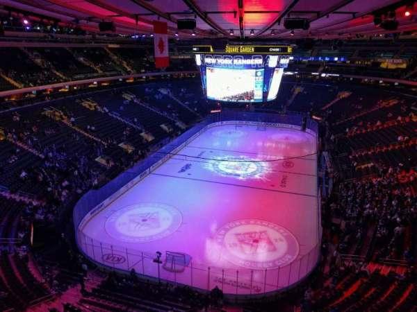 Madison Square Garden, sección: 306, fila: 1, asiento: 17