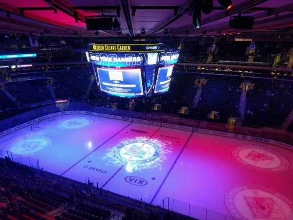 Madison Square Garden, sección: 314, fila: 1, asiento: 21