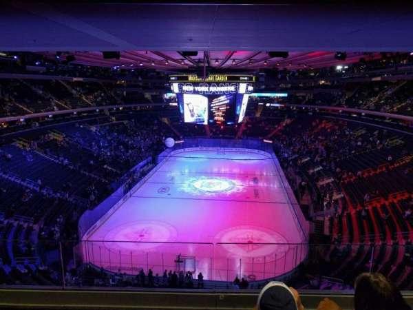 Madison Square Garden, sección: 416, fila: 3, asiento: 10