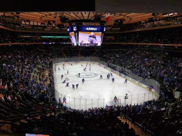Madison Square Garden, sección: 203, fila: 3, asiento: 6