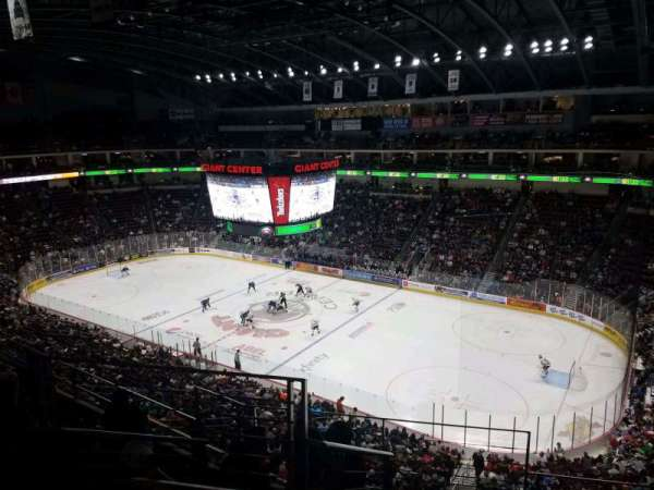 Giant Center, sección: 210, fila: F, asiento: 23