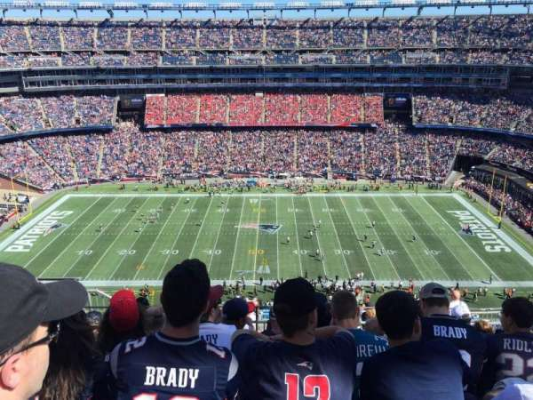 Gillette Stadium, sección: 331, fila: 14, asiento: 19