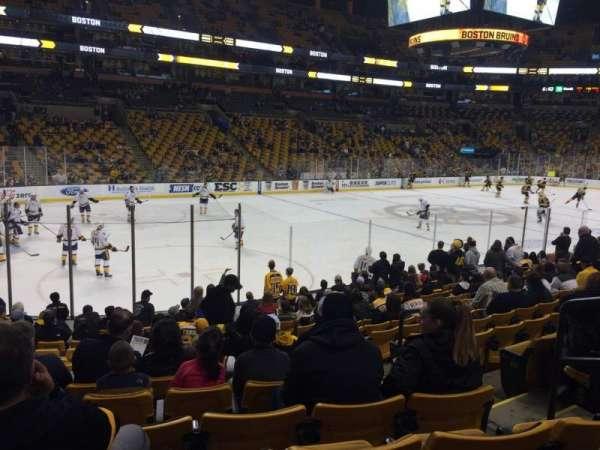 TD Garden, sección: Old Loge 4, fila: 14, asiento: 4