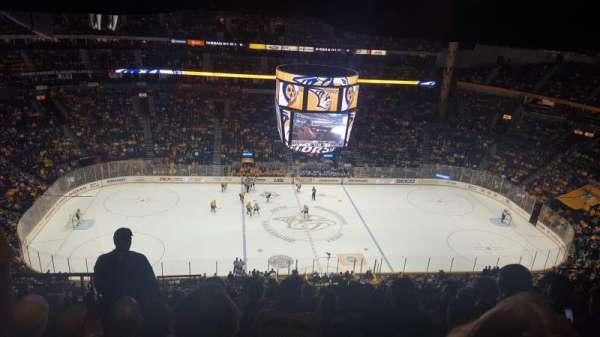 Bridgestone Arena, sección: 309, fila: P, asiento: 20