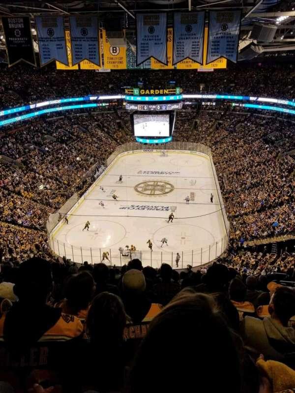 TD Garden, sección: BAL 323, fila: 15, asiento: 20