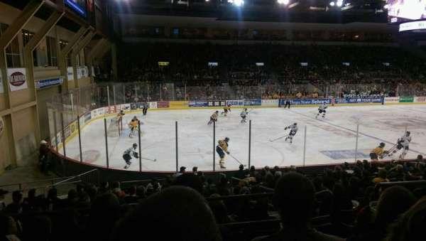 Erie Insurance Arena, sección: 201, fila: P, asiento: 6