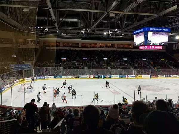 Erie Insurance Arena, sección: 217, fila: U, asiento: 10