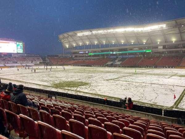 Rio Tinto Stadium, sección: 34, fila: M, asiento: 4
