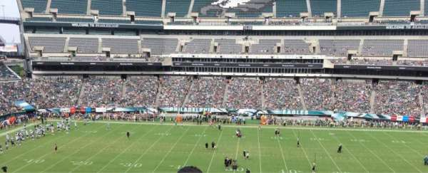 Lincoln Financial Field, sección: C1, fila: 4, asiento: 1