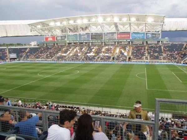 talen energy stadium, sección: 304, fila: 2, asiento: 1