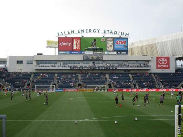 talen energy stadium, sección: 139, fila: 1, asiento: 1