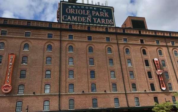 Oriole Park at Camden Yards, sección: WAREHOUSE, fila: EXTERIOR