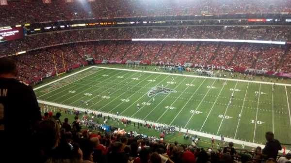 Georgia Dome, sección: 319, fila: 17, asiento: 22