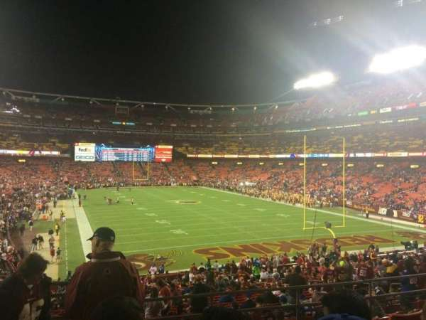 FedEx Field, sección: 234, fila: 6, asiento: 17